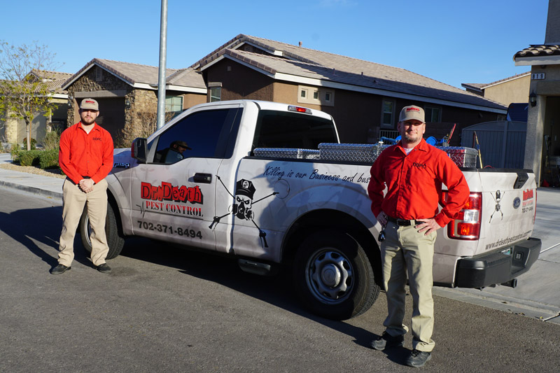 Dr. Death Pest Control truck and exterminators
